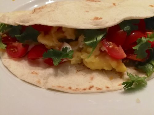 Just Egg vegan breakfast taco