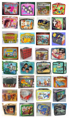 1960s and 1970s vintage lunchboxes