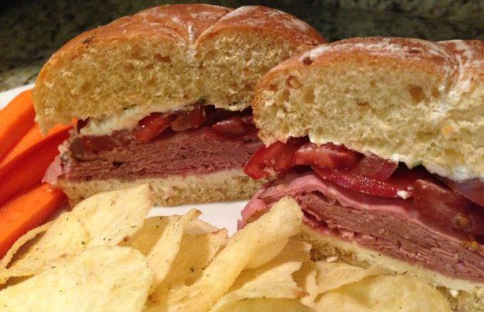 Roast Beef Herbed Cheese Sandwich