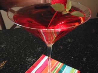 Fresh Strawberry Mint Martini