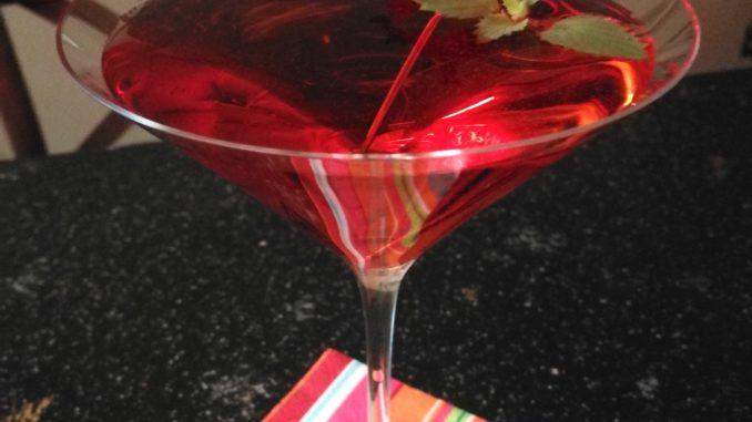 Fresh Strawberry Mint Martini