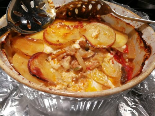 Sausage Potato Gratin leftovers