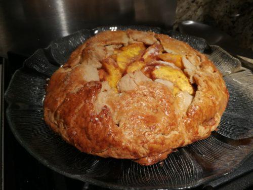 Rustic peach galette tart