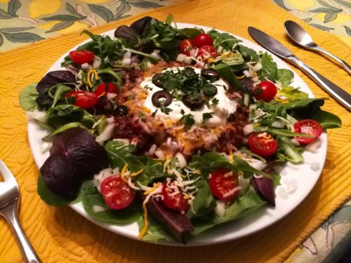 Ultimate Taco Salad with Chili