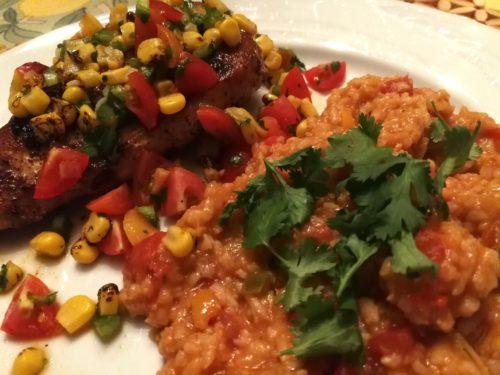 Southwest Salsa on grilled chicken breast