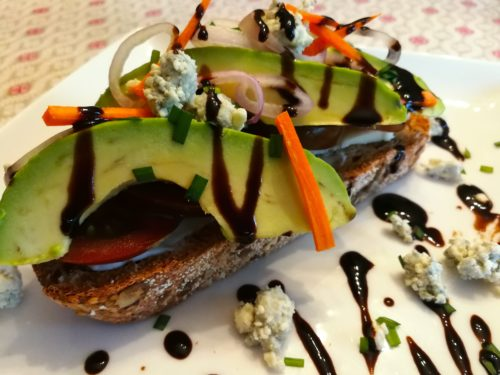 Avocado Veggie Bleu Toast