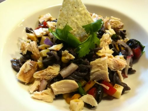 Tex Mex Pasta Salad with Chicken