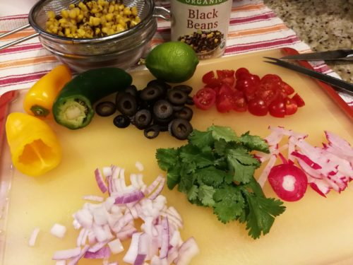 Ingredients for Tex Mex Pasta Salad