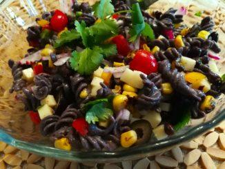 Tex Mex Pasta Salad ready to eat