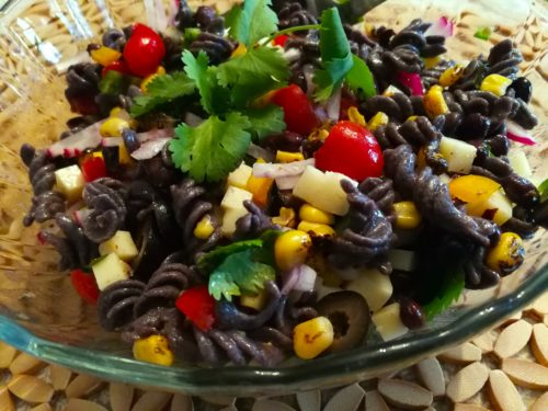 Tex Mex Pasta Salad ready to eat