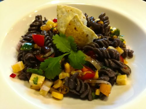 Tex Mex pasta salad vegetarian version without meat