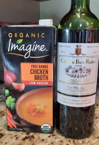 chicken broth and red wine