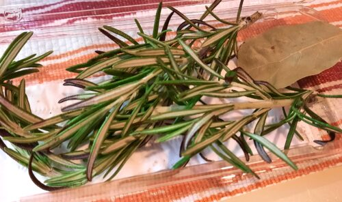 Rosemary and bay leaf
