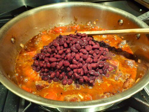 Add black beans